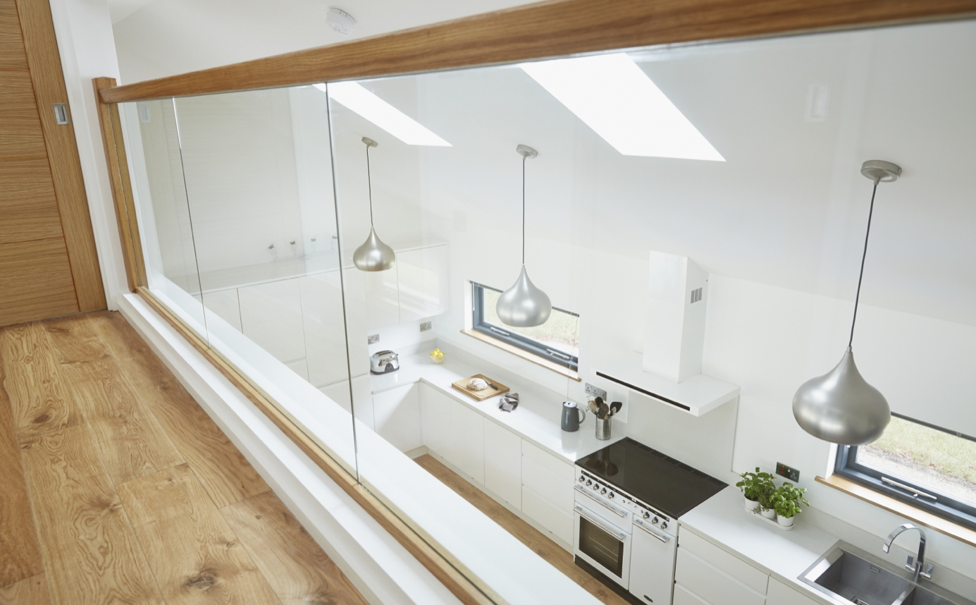 Kitchen through ballustrade